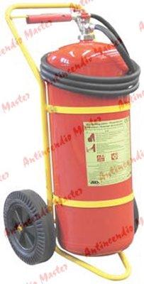 manutenzione ricarica estintore idrici carrellati pressione permanente Lt100