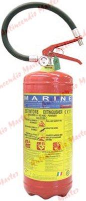 estintore polvere kg6 MED MARINA pressione permanente