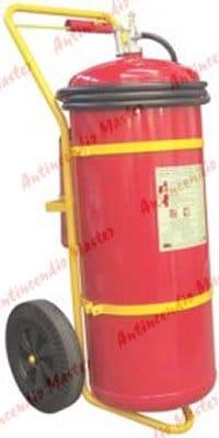 manutenzione ricarica estintore idrici carrellati bombola esterna Lt150
