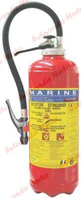 estintore polvere kg 6-9-12 MED MARINA bombolina interna milano