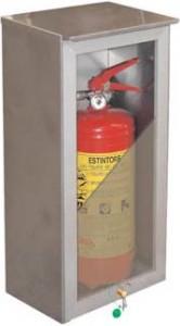 cassetta portaestintore acciaio inox lastra frangibile Easybreak. - antincendiomaster.it