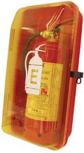 cassetta portaestintori da 6Kg - coperchio trasparente-antincendiomaster.it