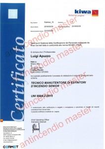certificato Luigi Apuzzo